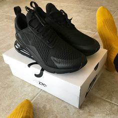 "1,185 Likes, 48 Comments - Allen Onyia (@allenonyia) on Instagram: ""Word is these @Nike #AirMax 270 Triple Black sneakers don't drop till March. What do you think…"""