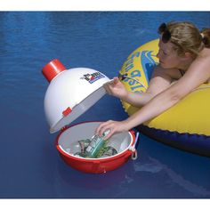 A floating cooler for when you go boating. Very convenient ;)