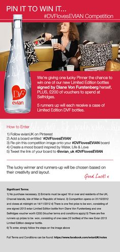 *** The competition is now CLOSED, thanks for participating!***  #DVFlovesEVIAN