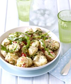 Warm Potato & Rocket stunningly simply and delicious! African Christmas, Food For Thought, Potato Salad, Dinner Ideas, Festive, Salads, Cooking Recipes, Bright, Salad