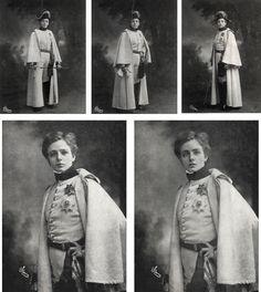 Maude Adams as Duke of Reichstadt in L'Aiglon, c.1900.  (via NYPL Digital Library & Bookmice)