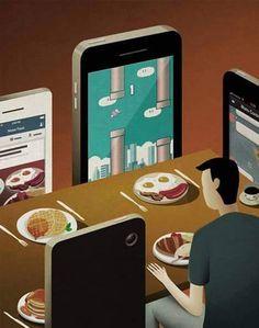 Le réalisme de l'illustration peut parfois faire froid dans le dos, et vice-versa.Dans un monde globalisé, régulé par l'économie (les gros sous), la bulle internet et m...