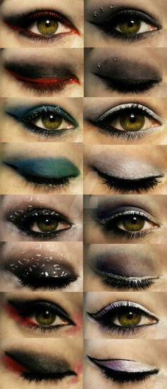 These makeup designs remind me of Vampire Diaries.