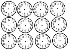 Kellonaikakortteja Number Writing Practice, Writing Numbers, Math Clock, Mathematics, Classroom, Teaching, Education, School, Maths