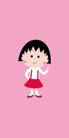 마루코는 아홉살 애니 주인공 마루코로 핸드폰 배경화면을 만들었어요~ : 네이버 블로그 Cute Cartoon Wallpapers, Cartoon Pics, Dog Wallpaper, Iphone Wallpaper, Aesthetic Pastel Wallpaper, Character Creation, Anime Chibi, Cute Art, Anime Characters