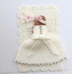 CHRISTENING BABY CROSS Cake Topper Baptism by BabyCakesByJennifer