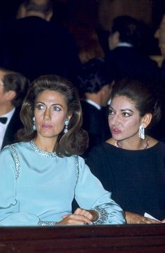 Helene Rochas and Maria Callas at the premier of Phaedra by Pierre Jourdan at…