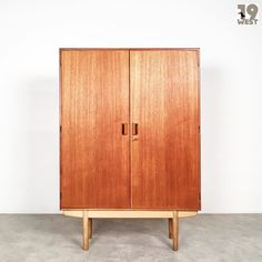 New on www.19west.de: a danish teak cupboard by Børge Mogensen #19west #vintage #design #designclassic #mcm #20thcentury #midcentury #1950's #1960's #danishdesign #teak #borgemogensen