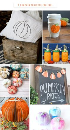 7 Pumpkin Projects for Fall | Roundup via TheTurquoiseHome.com