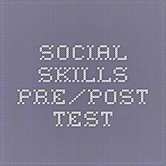 Social skills pre/post test