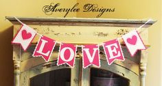 Love Valentine Banner. Wedding Banner Photo by AveryleeDesigns, $18.00