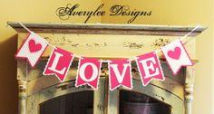 Love Valentine Banner. Wedding Banner Photo by AveryleeDesigns, $18.00