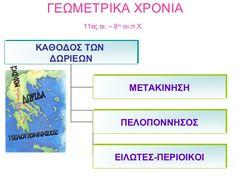Σχεδιαγράμματα Ιστορίας Δ΄ ( Μαθήματα 1- 13 ) Map, Teaching, Location Map, Maps, Education, Onderwijs, Learning, Tutorials