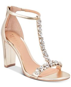 Jewel Badgley Mischka Morley Embellished Evening Sandals & Reviews - Sandals & Flip Flops - Shoes - Macy's