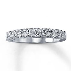 Previously Owned Ring 1/2 ct tw Diamonds 14K White Gold 900/normally 1500 kays treasures=prev owned