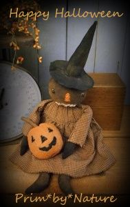 Large Primitive Folk Art Witch Doll with Cat Doll Extreme Autumn Fall Halloween Halloween Iii, Halloween Quilts, Halloween Items, Halloween Signs, Vintage Halloween, Halloween Pumpkins, Halloween Crafts, Halloween Decorations, Primitive Pumpkin
