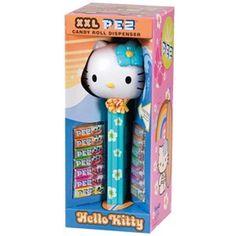 Candy Roll PEZ Dispenser XXL Hello Kitty Blue