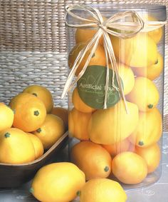 Take a look at this Faux Lemon Set today!
