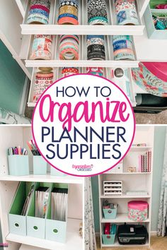 Organize planner supplies with these tips on how to organize all your planner supplies on a budget! We show you how to organize planner stickers, planners, washi tape and all of your other planner supplies! #organizingplannersupplies #organizingplannerstickers #organizingstickers #plannerstickers #homeorganization #officeorganization #organizingideas #organizationobsessed