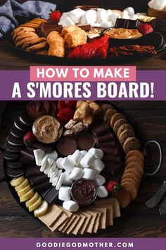 Fire Pit Desserts, Kid Desserts, Dessert Recipes, Charcuterie Recipes, Charcuterie And Cheese Board, Kids Dessert Table, Fire Pit Food, Campfire Snacks, Fire Pit Party