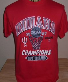 1e6c4f24f Vintage 1987 Indiana Hoosiers basketball t shirt Large 50/50 by  vintagerhino247 on Etsy Indiana