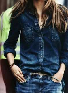 Denim on denim. I need to get that top!