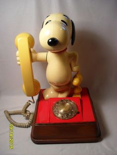The Snoopy and Woodstock Telephone 1976 Dial American Telecomm. Co.