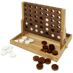 Collector's Edition Connect 4 with Walnut and Oak Finish