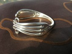 bracelets made of a silver fork