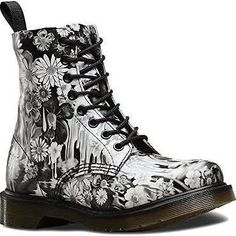 Women's Dr. Martens Pascal 8-Eye Boot, Size 7 UK - Black Paint