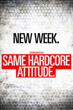 New week. Same hardcore attitude. There's something about a new week that I love. A brand new week with seven new days. Seven days that you can use to improve yourself. To become stronger, better and healthier. Love it! It's a new week but my attitude remains the same: hardcore. #goalcrusher #beastmodeon #trainharder #workharder www.gymquotes.co for all our gym motivation and workout motivation!