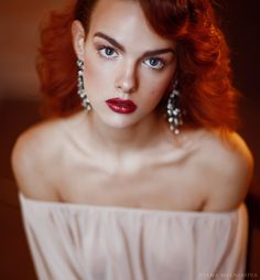 Untitled by Diana Melnikova Russian Beauty, Vintage Fashion Photography, Famous Artists, True Beauty, Redheads, Diana, Erotic, Pure Products, Inspiration