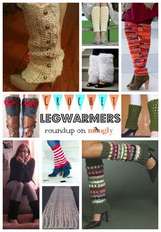 Cute crochet legwarmer patterns. Just what you need this winter!
