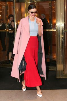 We're keeping an eye on the red carpet, the It girls and the fashion bloggers who are innovating. Click through to see all the best celebrity looks: Miranda Kerr.