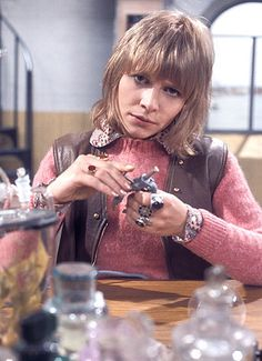 Jo Grant, Third Doctor Companion.  She refused to wear her glasses, which was too bad since she was incredibly nearsighted.
