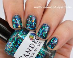 Nail Polish Anon: OPI Glacier Bay Blues & Candeo Colors Dive Bomb