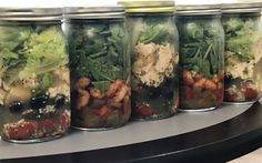 Starting Today through 8/5 - Salad SALE!!!!!!🥗🥗🥗🥗🥗 Meal Prep Services, Quart Size Mason Jars, Cucumber, Lunch Box, Healthy Eating, Salad, Meals, Food, Eating Healthy