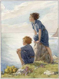 Margaret Tarrant - Far Horizons  - GIRL GUIDE PRINT
