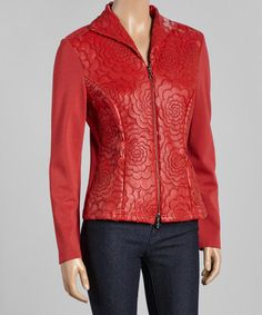 Another great find on #zulily! Red Contrast Jacket #zulilyfinds