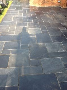 slate tile patio | Slate Patio after restoration