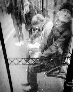 'Impatiently waiting for tram 25' - #Brussels #Belgium #BW #smartshots #blackandwhite #photography #people #street #urban #commuters #tram #
