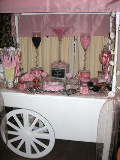 Vintage Candy Cart Wedding Idea www.MadamPaloozaEmporium.com www.facebook.com/MadamPalooza