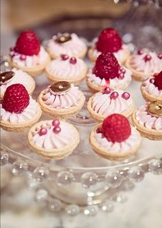petite pastries...raspberry...Marie Antoinette party perfection
