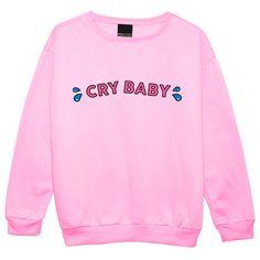 Weinen Baby Pullover JUMPER Womens Damen Spaß Tumblr von MLSHOPSS