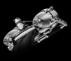 HM4 Only Watch 2011 - Xia Hang - MB&F #mbandf #horologicalmachine #hm4 #movement #horlogerie #hautehorlogerie #timepiece #luxury #watches #montres #reloj #watchmania #geneva #panda #flyingpanda