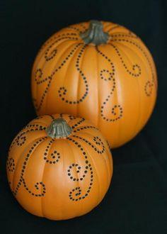 DIY Pretty Jeweled Pumpkins DIY Fall Decor DIY Home Decor