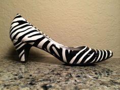 Steve Madden Zebra Print Mini Heels Size 8