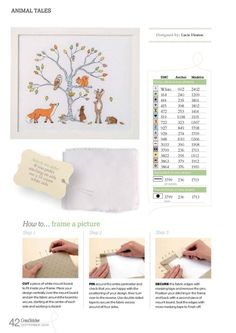 Free Animal Tales cross stitch pattern pg 3 #stitching #animals