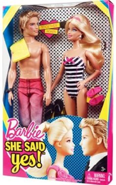 """Barbie """"She Said Yes"""" Doll Giftset  Would make a funny engagement gift!"""