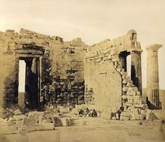 Inde i Parthenon, 1854 Athens Acropolis, Parthenon, Athens Greece, Greek History, Ancient Greece, Landscape Architecture, Old Photos, Mount Rushmore, Past